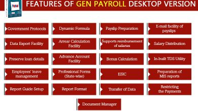 Photo of List of Features From Gen Payroll Software (desktop version)