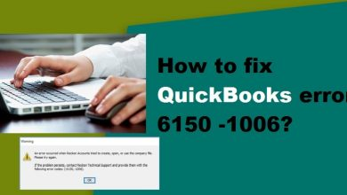 Photo of How to fix QuickBooks error 6150