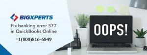Banking Error 377 in QuickBooks Online