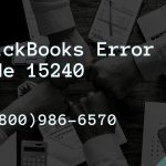 QuickBooks Error Code 15240