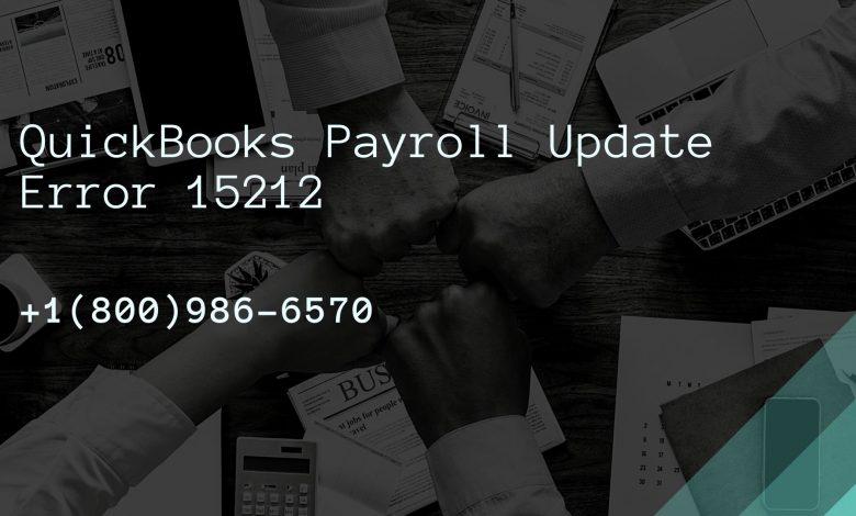 QuickBooks Payroll Update Error 15212
