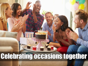Celebrating occasions together