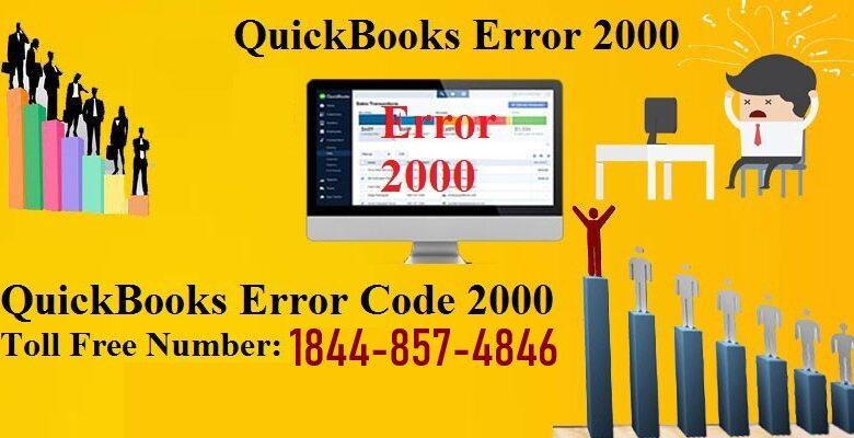QuickBooks Error Code 2000