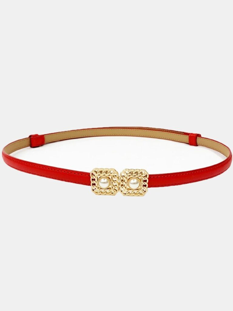 Fashionable Pearl Decor All-match Belt