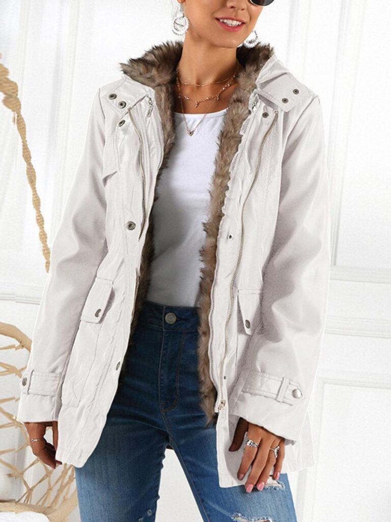 kiskissing wholesale solid color zipper hooded coat with belt