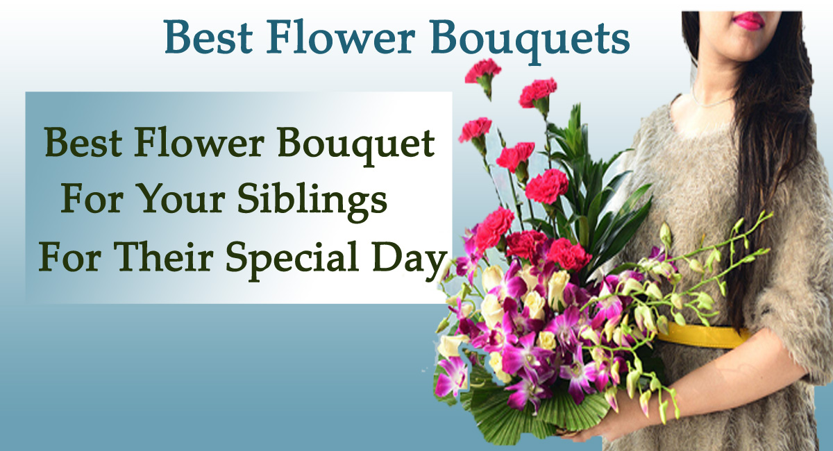 flower baskets- Best Flower Bouquet for Your Siblings for Their Special Day